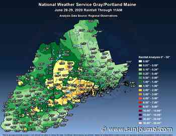 Following weeks of dry weather, Maine drenched with several inches of rain - Lewiston Sun Journal