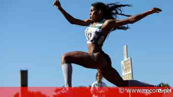 Mamona de fora do triplo salto em Fátima - Record