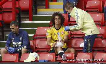 Arsenal still waiting to see if David Luiz will be fit for Norwich clash after he hurt his knee