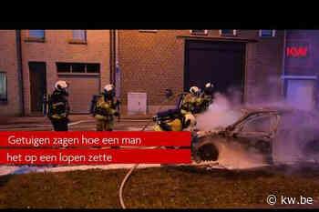 Mercedes vliegt in brand in Menen - Samenleving - KW - Krant van Westvlaanderen