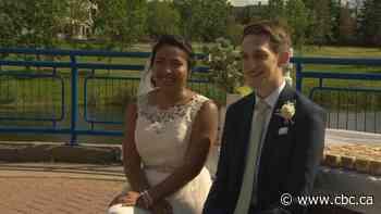 Edmonton newlyweds enjoy an Amazing Race to the altar