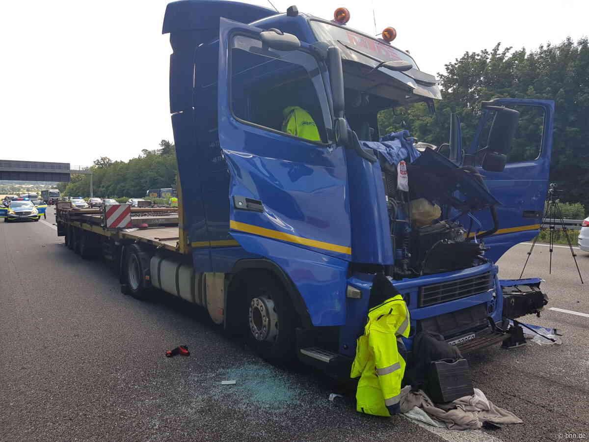 Kilometerlanger Stau nach Unfall auf A8 bei Karlsbad: Lkw-Fahrer schwer verletzt - BNN - Badische Neueste Nachrichten
