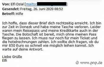 """""""Liebe Grüße, Elfi"""": Täuschend echte Betrüger-Mail - Passauer Neue Presse"""