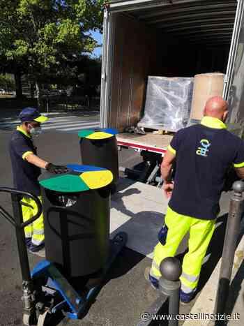 """CIAMPINO - Installati i nuovi cestini per la raccolta differenziata. Ballico: """"Rendiamo la città un luogo migliore"""" - Castelli Notizie"""