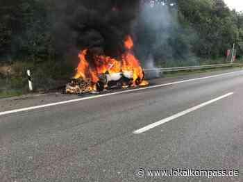 PKW Brand auf der Autobahn A2 - Marl - Lokalkompass.de