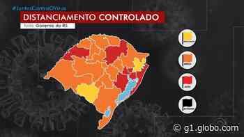 Palmeira das Missões, Caxias do Sul e Erechim ficam na bandeira laranja; outras seis regiões vão para bandeira vermelha - G1