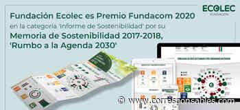 ODS16. La Fundación ECOLEC logra el Premio FUNDACOM 2020 por su Memoria de Sostenibilidad - Corresponsables.com