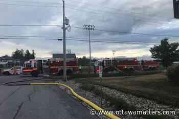 Ottawa fire crews battle commercial Stittsville fire - OttawaMatters.com