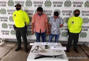 En una finca en Casanare capturaron a alias 'Guatavita' y 'Camilo' por tráfico de armas - Extra Boyacá