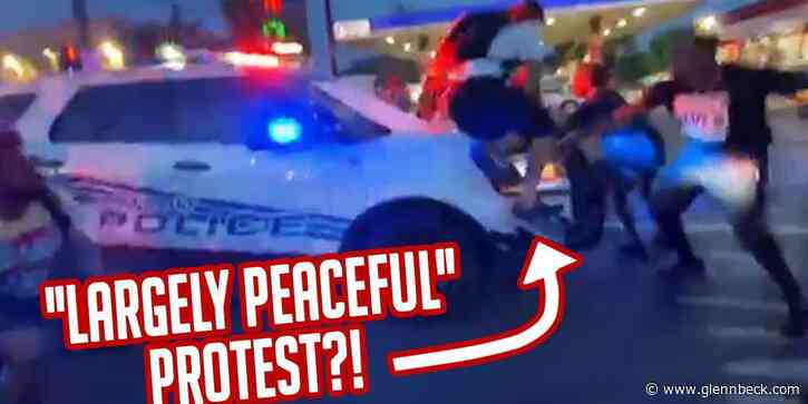 Black pastor CALLS OUT community for racial divide & cop DRIVES THROUGH 'peaceful' protesters