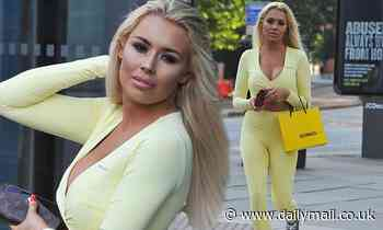 Love Island's Shannen Reilly McGrath displays her toned frame in pastel yellow crop-top and leggings