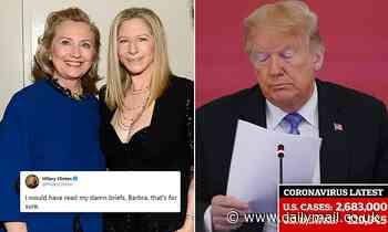 Hillary Clinton mocks Donald Trump over coronavirus crisis