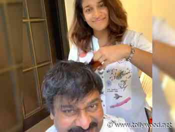 Sushmitha turns hairstylist for Chiranjeevi.. - Tollywood