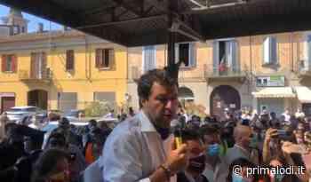 """Salvini a Codogno: """"Una comunità che ha dimostrato dignità, forza e coraggio"""". Poi l'incontro con l'oste Cattaneo VIDEO - Prima Lodi"""
