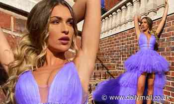 Zara McDermott puts on a leggy display in lavender tulle ballgown in sizzling social media snap