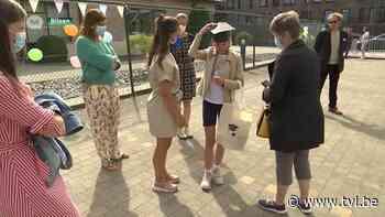 Buitengewoon onderwijs Klavertje Drie in Bilzen wuift leerlingen uit met QR-codewandeling - TV Limburg