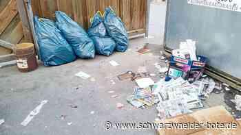 Horb a. N.: Vermeintliche Müllferkel drohen mit dem Anwalt - Schwarzwälder Bote