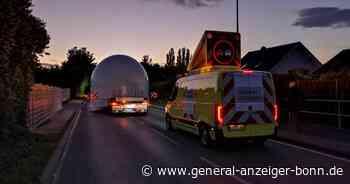 Wachtberg: Transport von Weltraumradar auf Montagabend verschoben - General-Anzeiger Bonn