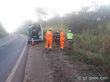 Homem morre e mulher fica ferida em acidente de moto entre Machado e Alfenas, MG - G1