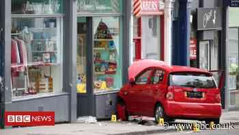 Boy, 3, dies after car crashes into Edinburgh charity shop