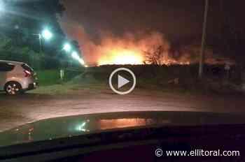 Incendio en la zona de countries - El Litoral