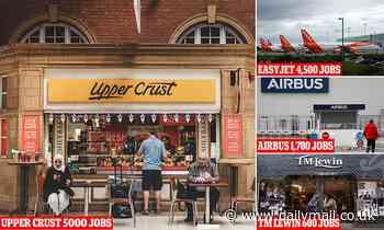 Coronavirus jobs catastrophe: Food retailer Upper Crust to lay off 5,000 - half its workforce - Daily Mail