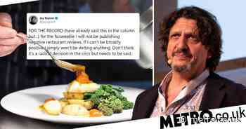 Food critic Jay Rayner won't give bad reviews when restaurants reopen - Metro.co.uk