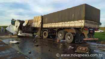 Acidente envolvendo duas carretas deixa vítima em óbito em Nova Andradina - Nova News - Nova News