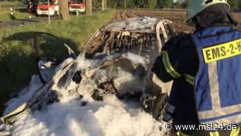 Emsdetten: Autofahrer stirbt bei Baumcrash – Polizei sichert Spuren - msl24.de