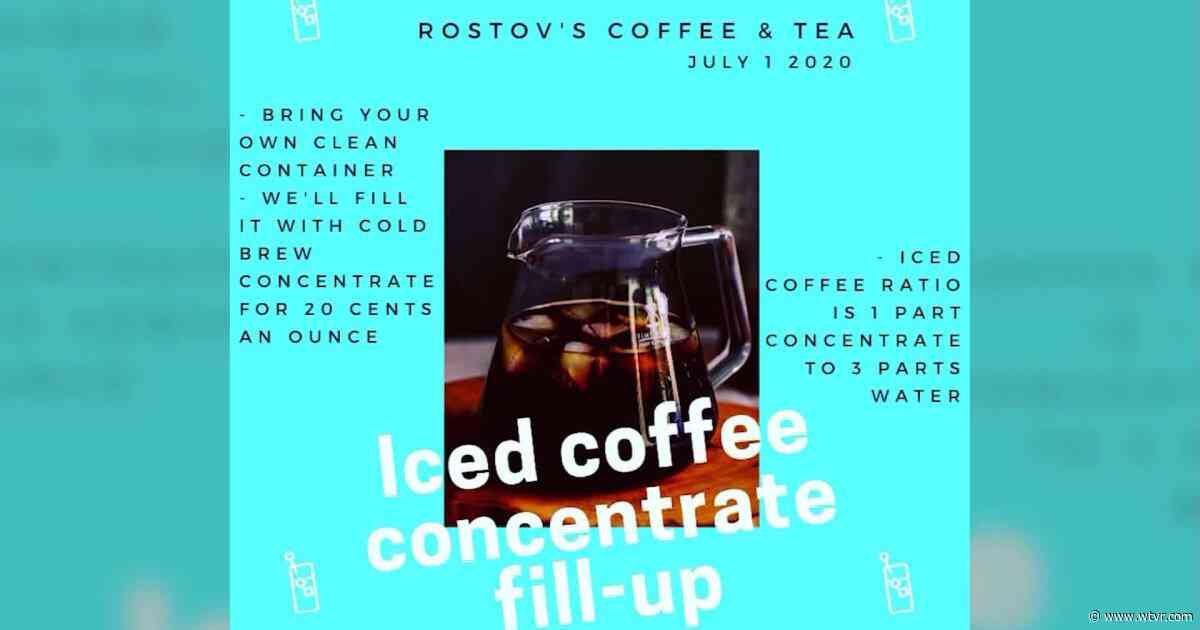 Fill up on iced coffee at Rostov's Coffee & Tea on July 1 - wtvr.com