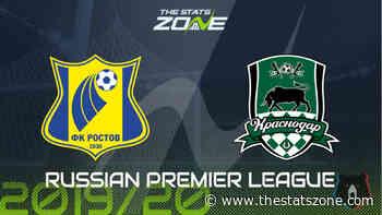 2019-20 Russian Premier League – Rostov vs Krasnodar Preview & Prediction - The Stats Zone