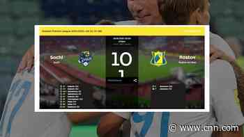 FC Rostov suffers 10-1 defeat to PFC Sochi after being forced to play youth players - CNN