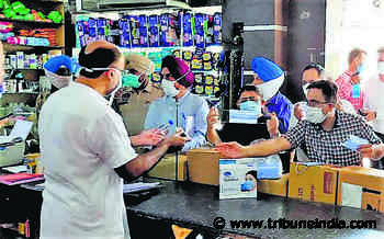 Don't let your guard down, SDM tells medical stores post checking - The Tribune
