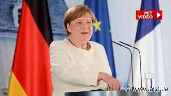 Corona: Angela Merkel sorgt mit Masken-Statement für Lacher bei Treffen mit Macron - BILD