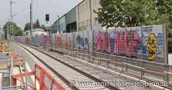 Sankt Augustin: Graffiti an neuer Lärmschutzwand der Bahn - General-Anzeiger Bonn