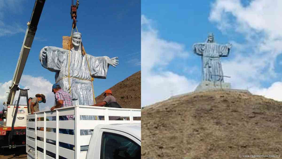 Encima de pirámide prehispánica, ponen Cristo gigante en Tierra Blanca, Veracruz - Radio Fórmula