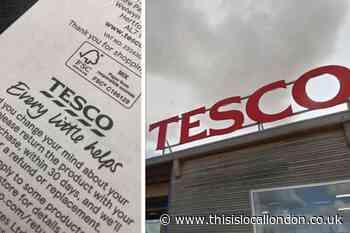 Tesco's hidden message to UK shoppers on their receipts