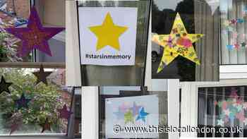 Stars in windows to remember those who died of coronavirus