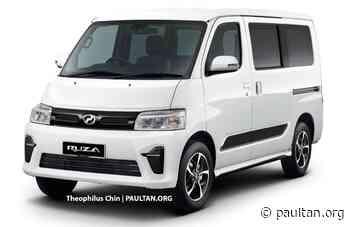 Perodua Ruza van - Daihatsu Gran Max-based render - paultan.org - Paul Tan's Automotive News