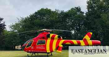 Air ambulance lands on school field in Woodbridge - East Anglian Daily Times