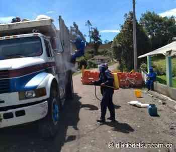 Recorren barrios con desinfección en Gualmatán - Diario del Sur