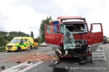 Alweer ernstig ongeval op E17: Oekraïense trucker zwaargewond