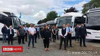 Coach convoy highlights coronavirus impact on industry
