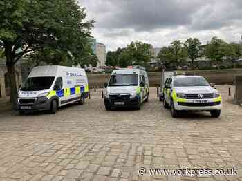 Heavy police presence around River Ouse in York