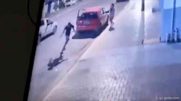 Câmeras flagram homicídio de morador na porta de casa em Sorriso (MT) - G1