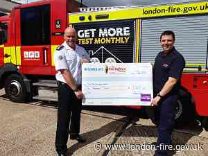 Firefighter donating £1000 prize to Firefighters Charity