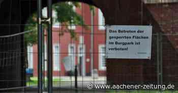 Nach Absackung in Alsdorf: Großer Teil des Burgparks bleibt vorerst gesperrt - Aachener Zeitung