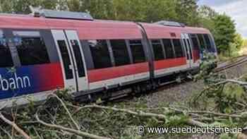 Zug fährt in umgestürzte Bäume: Niemand verletzt - Süddeutsche Zeitung