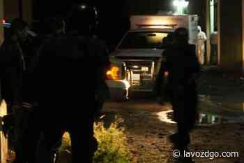 Lo matan a quemarropa afuera de su casa en Pueblo Nuevo - La Voz de Durango