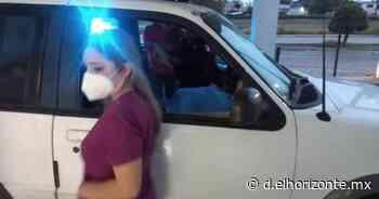 Ayuda policía a mujer embarazada en Guadalupe - El Horizonte